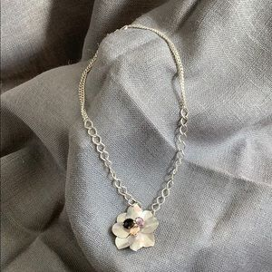 Magnolia Flower Statement Necklace Jessica Simpson